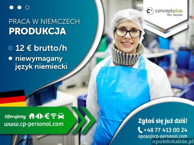 Pracownik produkcji bez znajomości języka - nawet do 12,50 € brutto/h